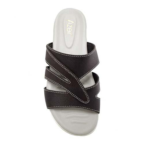 AZER - LADIES FLAT SANDALS (19-1164 CF) COFFEE