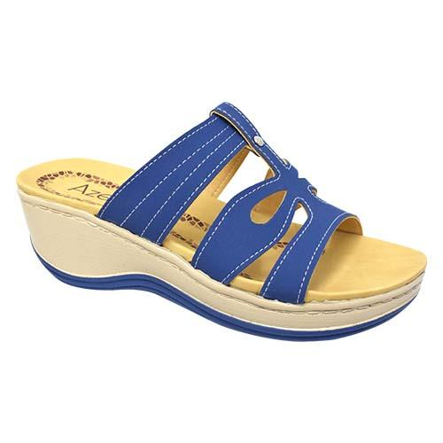 AZER - LADY COMFORT WALK SHOE   (76-13168 BLUE) BLUE