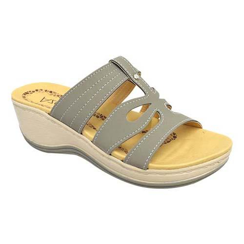 AZER - LADY COMFORT WALK SHOE (76-13168 GY) GREY