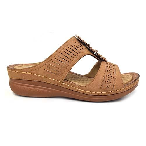 AZER - VINTAGE STYLE LADIES SANDAL (90-736 BN) BROWN