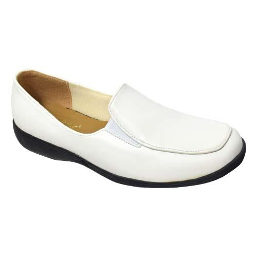 AZER - LADIES COURT SHOES (63-553 W) WHITE