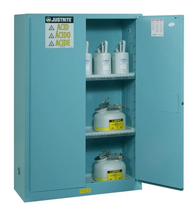 45Gallons Sure-Grip® EX Steel Classic Self-Close Safety Cabinets for Corrosives