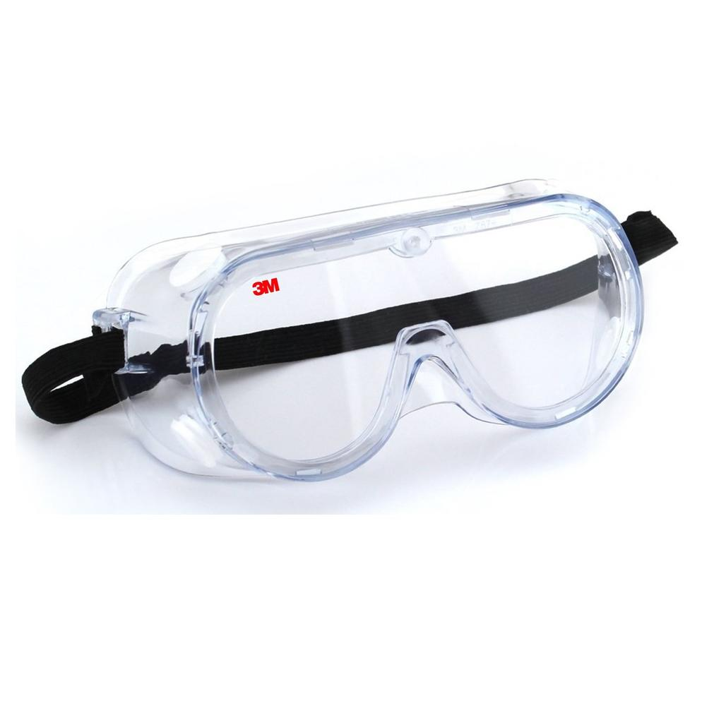 3M 1621 Safety Goggles for Splash with Anti Fog Lens