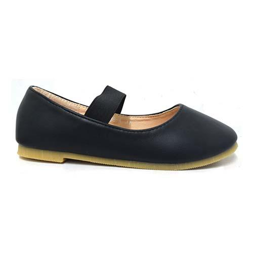 AZER - CHILDREN'S SLIP-ON BALLET SHOES (CK 838A-BK) BLACK