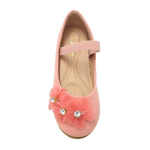 AZER - CHILDREN'S SLIP-ON BALLET SHOES (CK 838-P) PINK