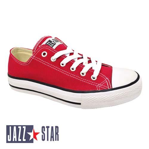 PALLAS JAZZ STAR LOW CUT SHOE LACE (407-096 R) RED