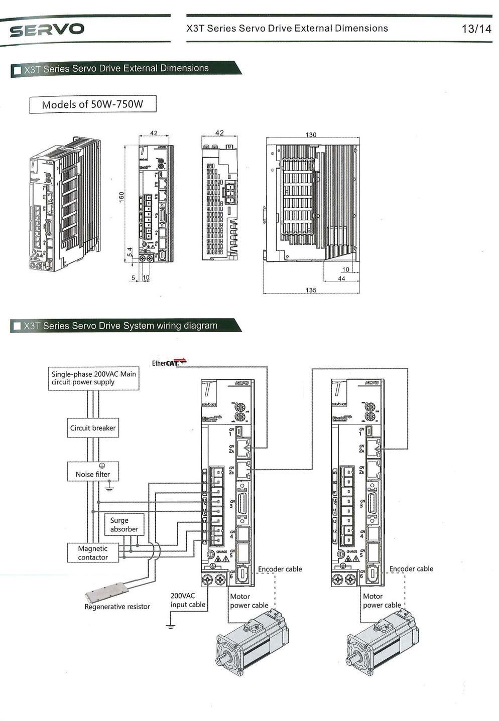x3t series servo drive