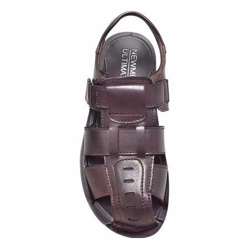 NEWMEN - CLOSED TOE LEATHER SANDAL (MA 1019-BN) BROWN
