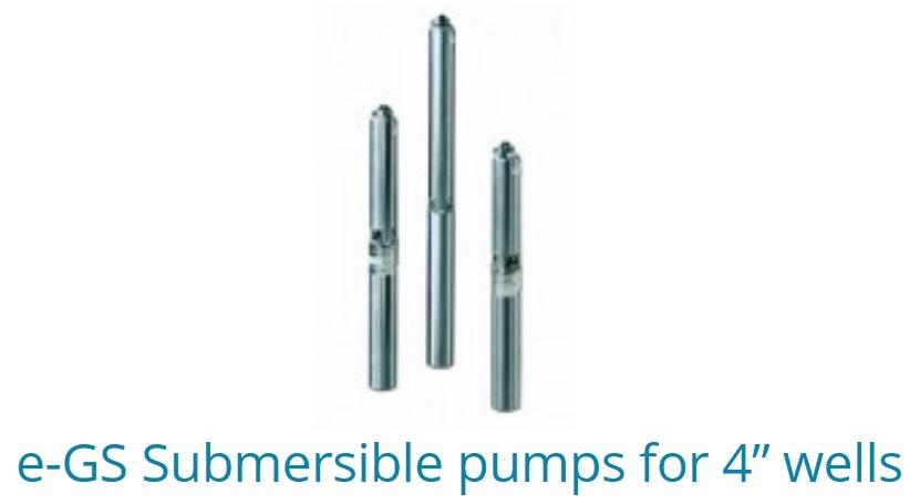 "E-GS Submersible pumps for 4"" wells"