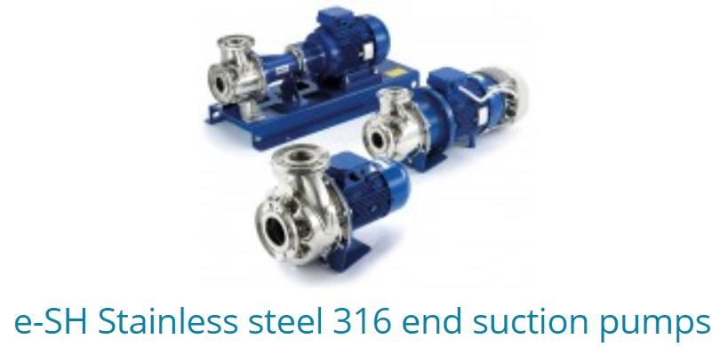 E-SH Stainless Steel 316 End Suction Pumps