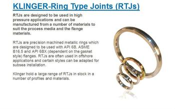Klinger Ring Type Joints (RTJs)