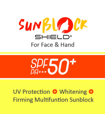 Sunblock SHIELD+ For face & hand