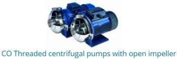 CO Threaded Centrifugal Pumps With Open Impeller
