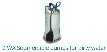 DIWA Submersible pumps for dirty water