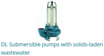 DL Submersible Pumps With Solid-Laden Wastewater