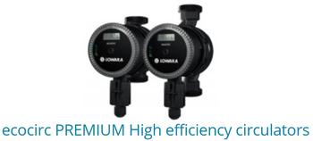 ECOCIRC Premium high efficiency circulators