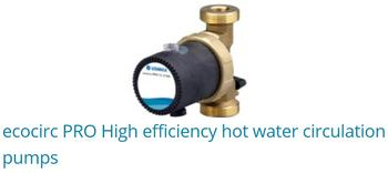 ECOCIRC Pro high efficiency Hot Water Circulators Pumps