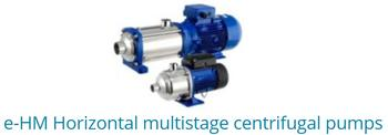 E-HM Horizontal Multistage Centrifugal Pumps