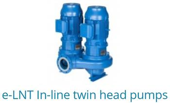 E-LNT In-line twin head pumps