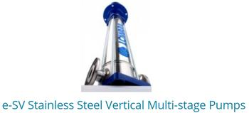 E-SV Stainless Steel Vertical Multistage Pumps