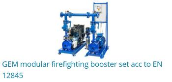 GEM Modular Firefighting Booster Set Acc to EN 12845