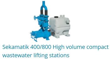 Sekamatik 400/800 high volume compact wastewater lifting stations