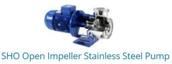 SHO Open impeller stainless steel pump