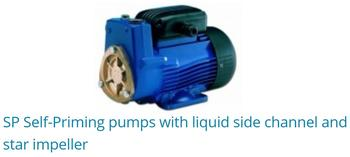 SP Self-priming Pumps With Liquid Side Channel And Star Impeller