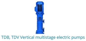 TDB, TDV Vertical Multistage Electric Pumps