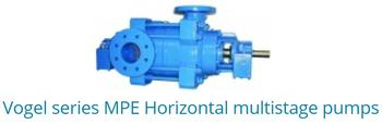 VOGEL Series MPE horizontal multistage pumps