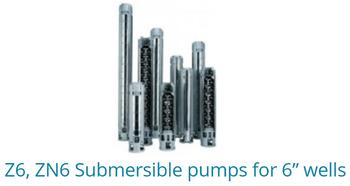 "Z6,ZN6 Submersible pumps for 6"" wells"