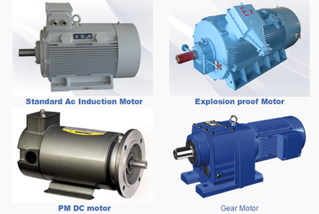 AC, DC, Weather Proof, Explosion Proof etc. Electric motor.