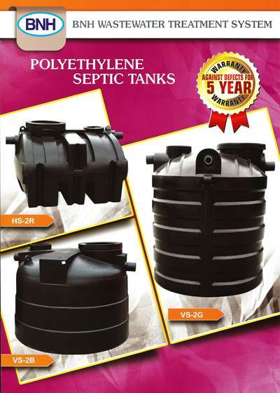 BNH Polyethylene Septic Tanks