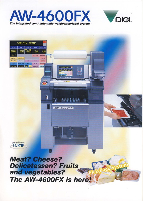 The Integrated Semi-Automatic Weigh/Wrap/Label System