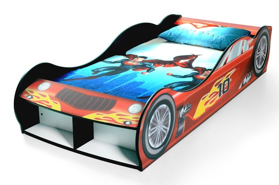 Sport Car Bed - Red Dragster Racing Car Bed
