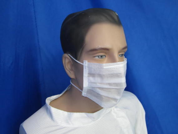 2 Ply Facemask With Nylon Headloop (White)
