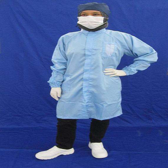 Cleanroom Lintfree Antistatic Overall Long Sleeve