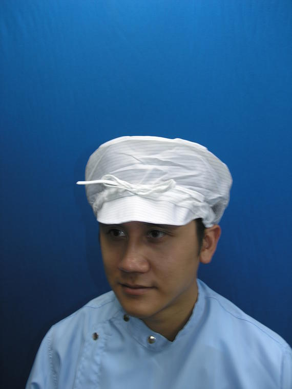 Cleanroom Lintfree Antistatic Cap With Ribbon