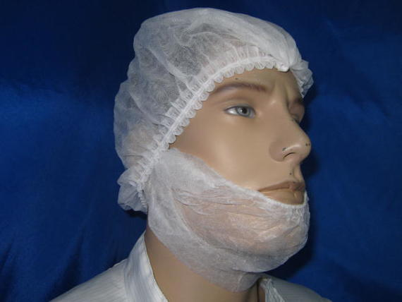 Non Woven Beard Face Mask White Colour