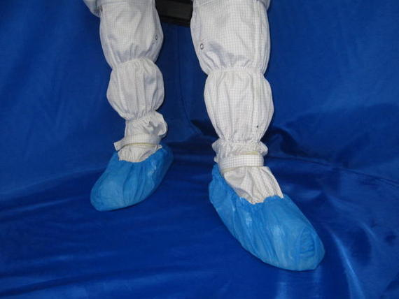 Disposable CPE Blue Shoe Cover