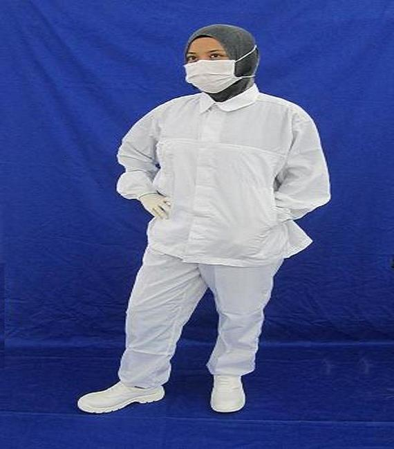 Cleanroom Lintfree Antistatic Jacket long Sleeve