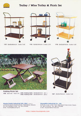Trolley/ Wine Trolley & Picnic Set
