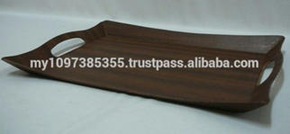 Crown Shape Handy Wooden Tray