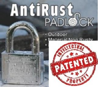 Anti Rust Padlock With Patented 50mm