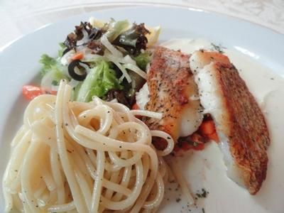 Pan Sear Red Snapper With Pasta