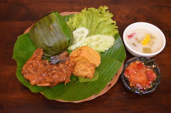 Nasi Paket Ayam Kampung Bakar Cobek