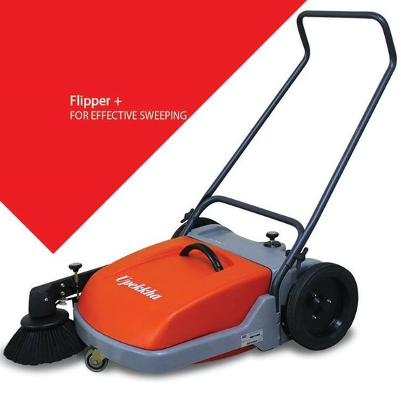 Mechanical Walk Behind Sweeper Flipper+