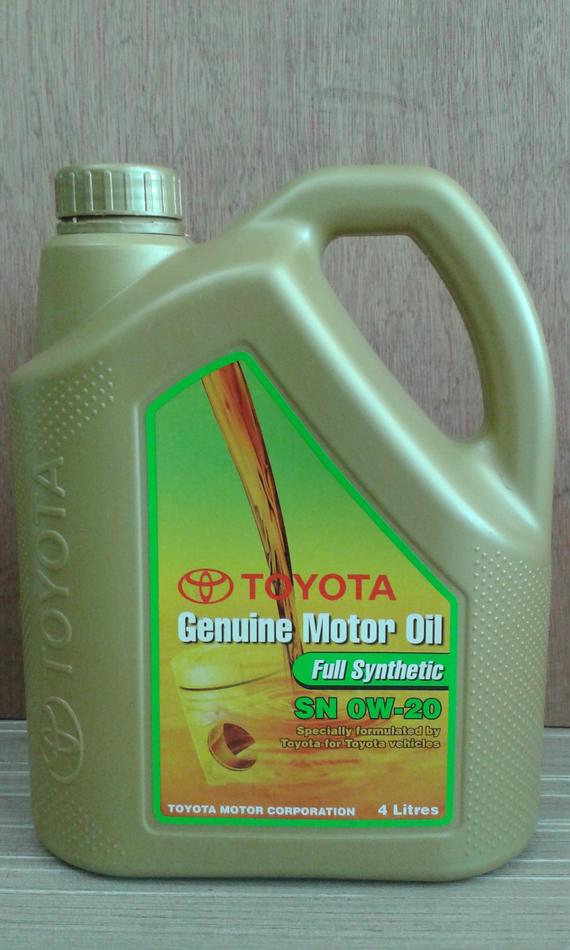 TOYOTA GENUINE FULLY 0W20 ENGINE OIL