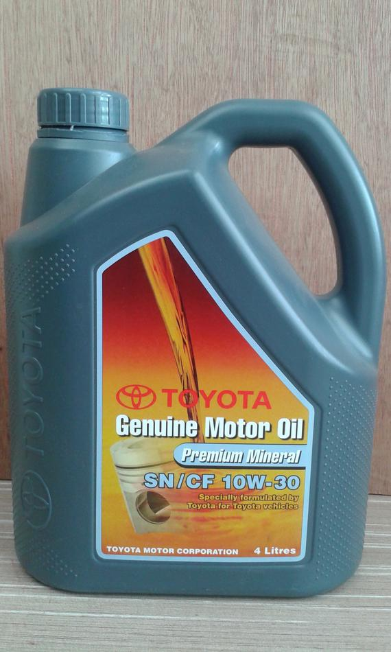 TOYOTA GENUINE PREMIUM MINERAL 10W30 ENGINE OIL