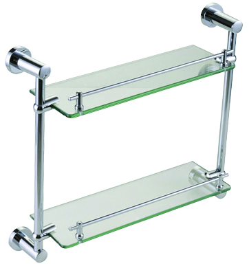 FLS82652 Double Layer Glass Shelf